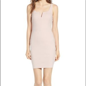 TopShop dusty pink midi bodycon dress with zip